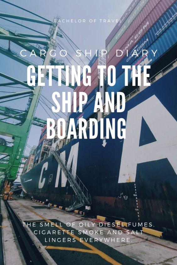 cargo ship boarding container ship