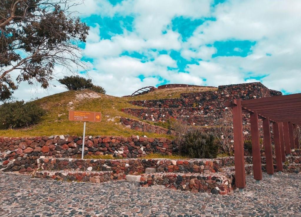 Akrotiri Ruins Santorini Outside
